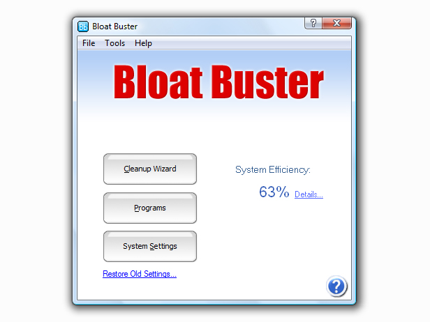 Bloat Buster Screen shot